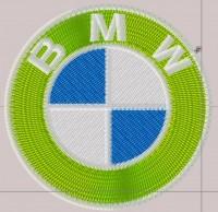 превью дизайна машинной вышивки лого BMW для кожзама 01
