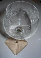 квадратная вышитая подставка-конверт одевающаяся на ножку бокала
