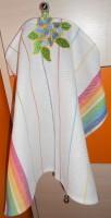 машинная вышивка петельки на полотенце