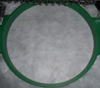 машинная вышивка петельки на полотенце шаг 01