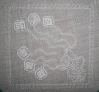 машинная вышивка толстыми хлопковыми нитками