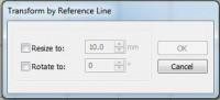truesizer 3.0 трансформация относительно линии