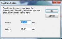 truesizer 3.0 окно калибровки экрана