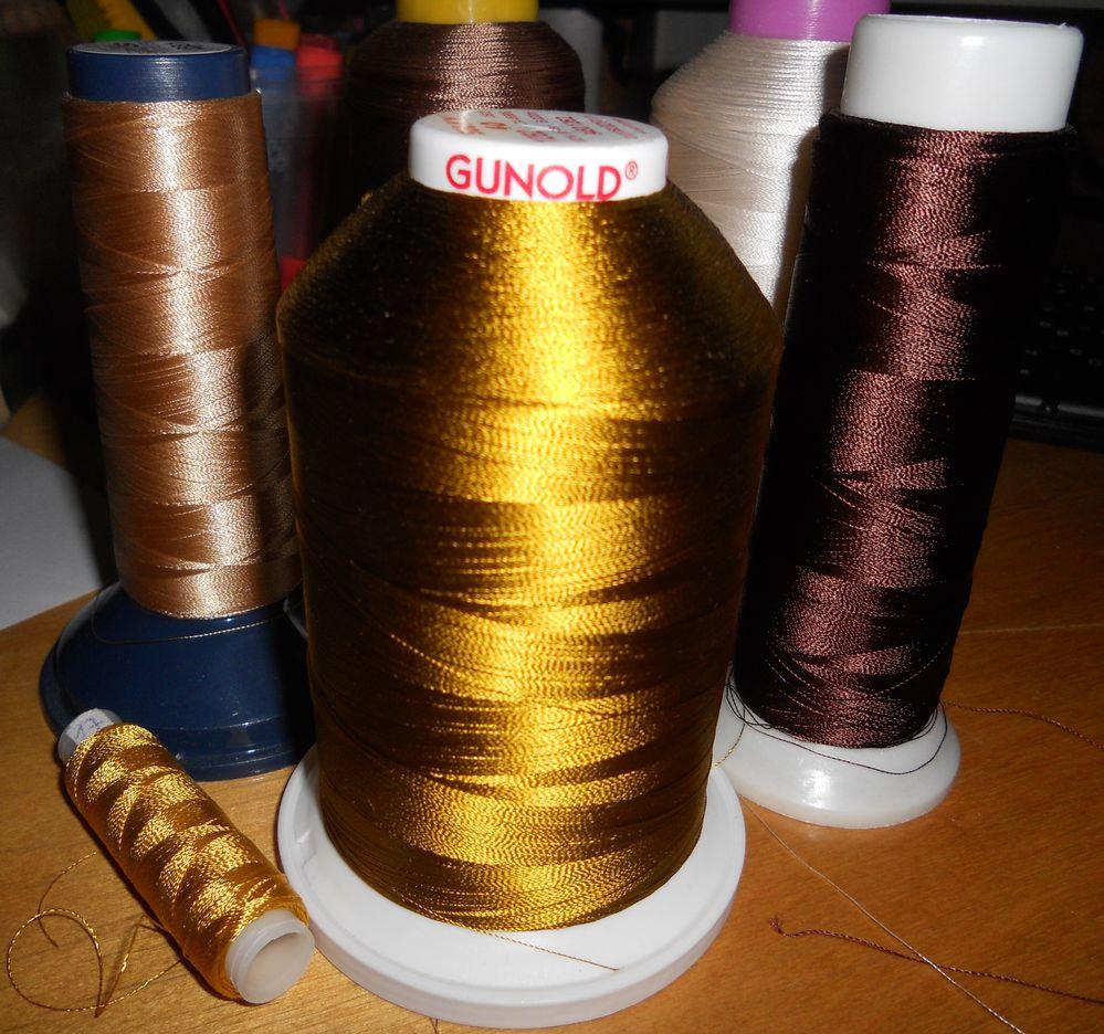 нитки для машиной вышивки разных производителей