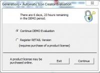 icon creator выбор вариантов входа в программу