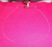 машинная вышивка держателя для полотенца шаг 04