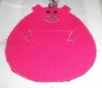 машинная вышивка держателя для полотенца шаг 06