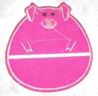 машинная вышивка держателя для полотенца шаг 13