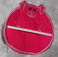 машинная вышивка держателя для полотенца шаг 14