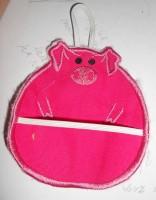 машинная вышивка держателя для полотенца шаг 15