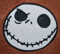 машинная вышивка jack skellington
