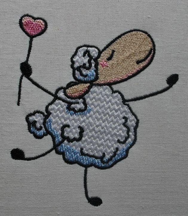 дизайн машиной вышивки овечка бесплатный