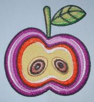 яблоко машинная вышивка