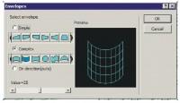окно параметров конверта-сетки wingsxp 4
