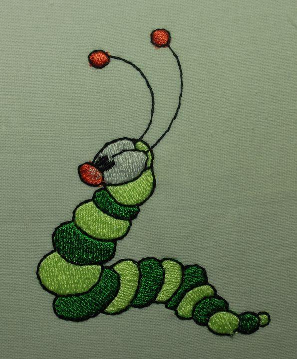 червяк машинная вышивка