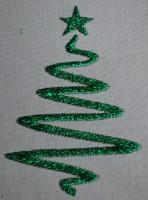 машинная вышивка плоской металлизированной ниткой 04