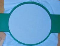 машинная вышивка нитками стягивающими ткань 01