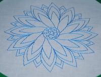машинная вышивка нитками стягивающими ткань 03