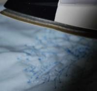 машинная вышивка нитками стягивающими ткань 05