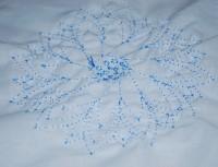 машинная вышивка нитками стягивающими ткань 06
