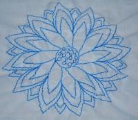 машинная вышивка нитками стягивающими ткань 07