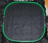 машинная вышивка на материале типа кирзы 02