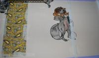 обложка для школьного дневника вышитая 07