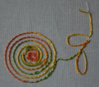 машинная вышивка толстыми нитками в шпуле 07