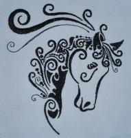 бесплатный дизайн машиной вышивки лошадь