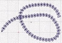 имитация петельного шва в машинной вышивке