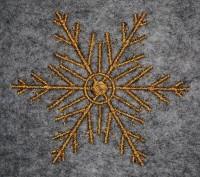 новогодняя машинная вышивка снежинка 2