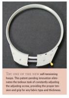 интересное приспособление для настройки натяжения на внушнем кольце пялце промышленой вышивальной машины