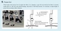 настройка высоты прижимной лапки на вышивальной машине 03