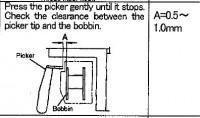 диагностика вышивальной машины, когда нитка вылетает из иглы после обрезки 03