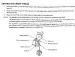 калибровка натяжения нижней нити с помощью монеток